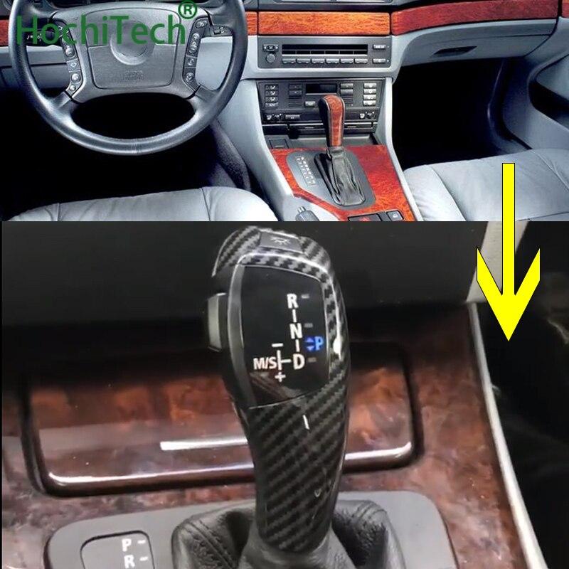 LEVOU Marchas Manípulo Shifter Alavanca Para BMW 1 3 5 6 Série E90 E60 E46 2D 4D E39 E53 E92 E87 E93 E83 X3 E89 Automático Acessórios