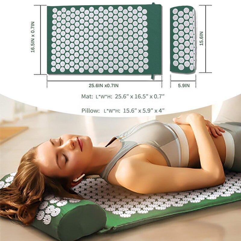 Yoga Massage Mat Acupressure Massager Spike Mat Massage Cushion Pads Home Health Back Neck Foot Massager Pillow Pain Relieve