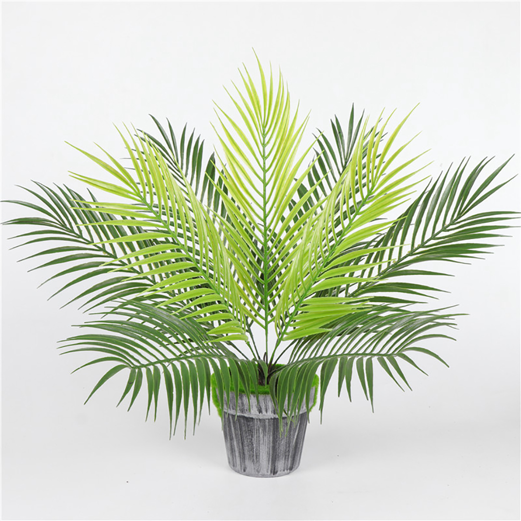 Artificial Fern Plants Plastic Tropical Palm Tree Leaves Branch Home Garden Decoration Photography Wedding Decor Leaves(China)
