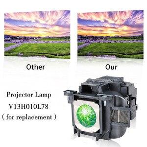 Image 2 - Elplp78/v13h010l78 substituição lâmpada do projetor para epson powerlite hc 2000/hc 2030/powerlite hc 725hd/hc 730hd bate feliz