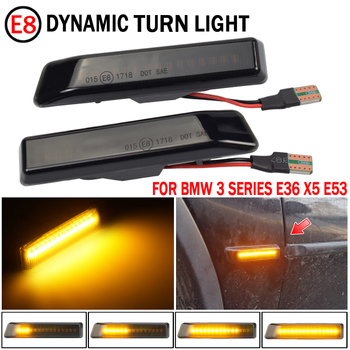 Led Dynamic Turn Signal Light Side Marker Fender Sequential Lamp Blinker For BMW E36 M3 Facelift 1997-1999 X5 E53 1999-2006 image
