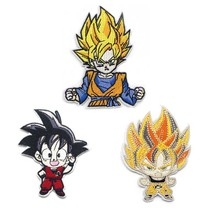 Dragon ball Embroidered Cartoon Patches Iron or Sew On Badges Clothes Shoes for men Applique Accessories DIY Decorations E0576