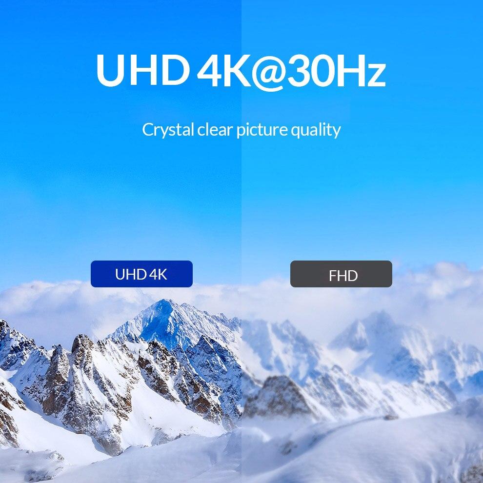כרטיס גרפי החלף DVI Unnlink ספליטר דו כיווני Switch Switcher 2x1 / 1X2 UHD4K DVI AB עבור צג כרטיס גרפי שולחן מחשב (5)