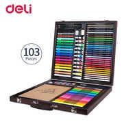 Juego de pintura Deli 103 unids/pack profesional graffiti pintura acuarela lápiz color pintura al óleo pastel conjunto regalo de cumpleaños