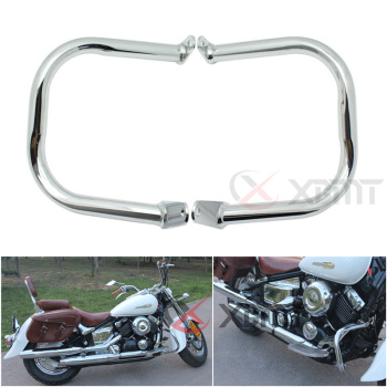 Motocykl Chrome pasek bezpieczeństwa ochrony silnika dla Yamaha Dragstar v-star DS XVS 400 650 DS400 DS650 XVS400 XVS650 Classic Custom tanie i dobre opinie XBMT Crash Bumpers 0inch High Quality Metal surface plating Guard Crash Bar Accept 1 Set