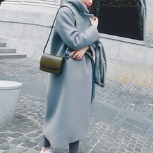 Women's Blend Coat 2019 Winter New Casual Korean Version Slim Long Wool