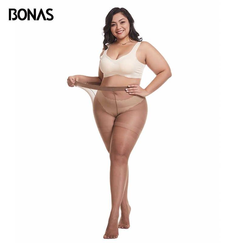 Bonas 15D xxxlタイツナイロン女性のストッキングプラス 100 キロセクシーな通気性弾性薄パンスト女性collant春ホット