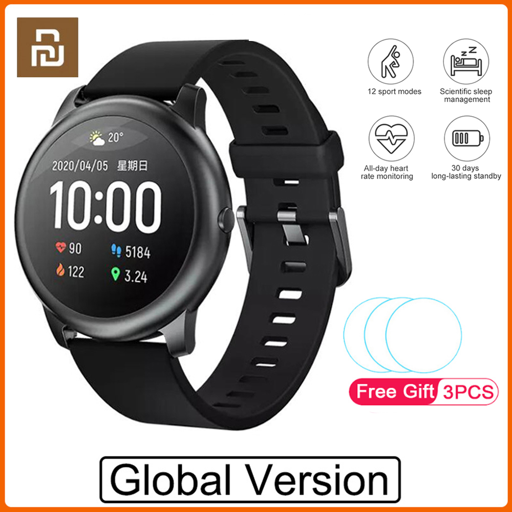 2020 Original Youpin Haylou Solar Smart Watch Sport Fashion Bracelet Heart Rate Sleep Monitor Fitness Tracker For iOS Android