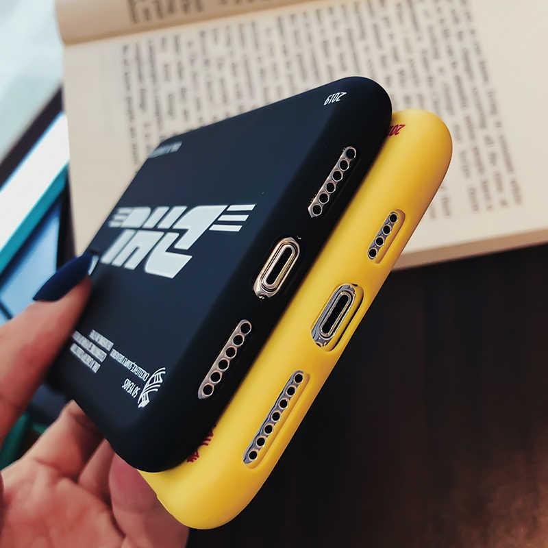 Thời Trang ĐHG Silicone Mềm Dành Cho iPhone 11 Pro Max XS XR 8 7 6 S Plus 11Pro 7Plus 8Plus Logo Thương Hiệu Thiết Kế Bao Bọc Điện Thoại Coque