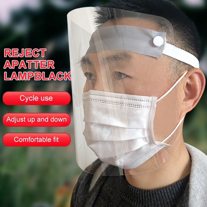 Protective Adjustable Anti Droplet Dust-proof Full Face Cover Mask Visor Shield Droplet Virus Windproof Face Shield Washable