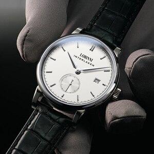 Image 3 - Suisse Montre 2019 marque de luxe amoureux Montre bracelet saphir Vintage Montre en cuir Montre Couple Montre de noël cadeau hommes femmes