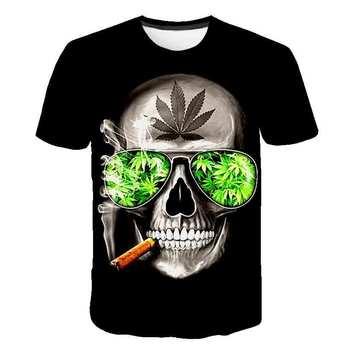 2020 new printed t-shirt skull 3d t-shirt summer fashion short-sleeved t-shirt Top male/female short-sleeved Top