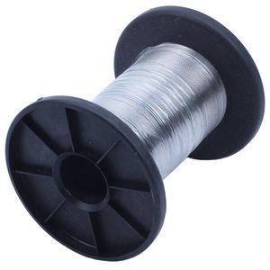 Image 2 - 30M 304 rollo de alambre de acero inoxidable solo brillante Cable de alambre duro 0,3 Mm