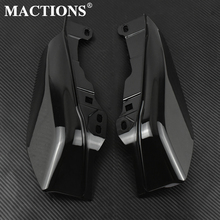 Motorcycle Gloss Black Mid Frame Air Heat Deflector Fit For Harley Touring Electra Glide Street Road Glide CVO 2017 2018 2019