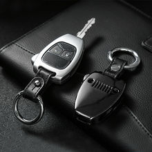 מתכת רכב מרחוק מפתח מעטפת כיסוי מקרה Keychain עבור ג יפ רנגלר JK 2008 2017 מצפן 2008 2015