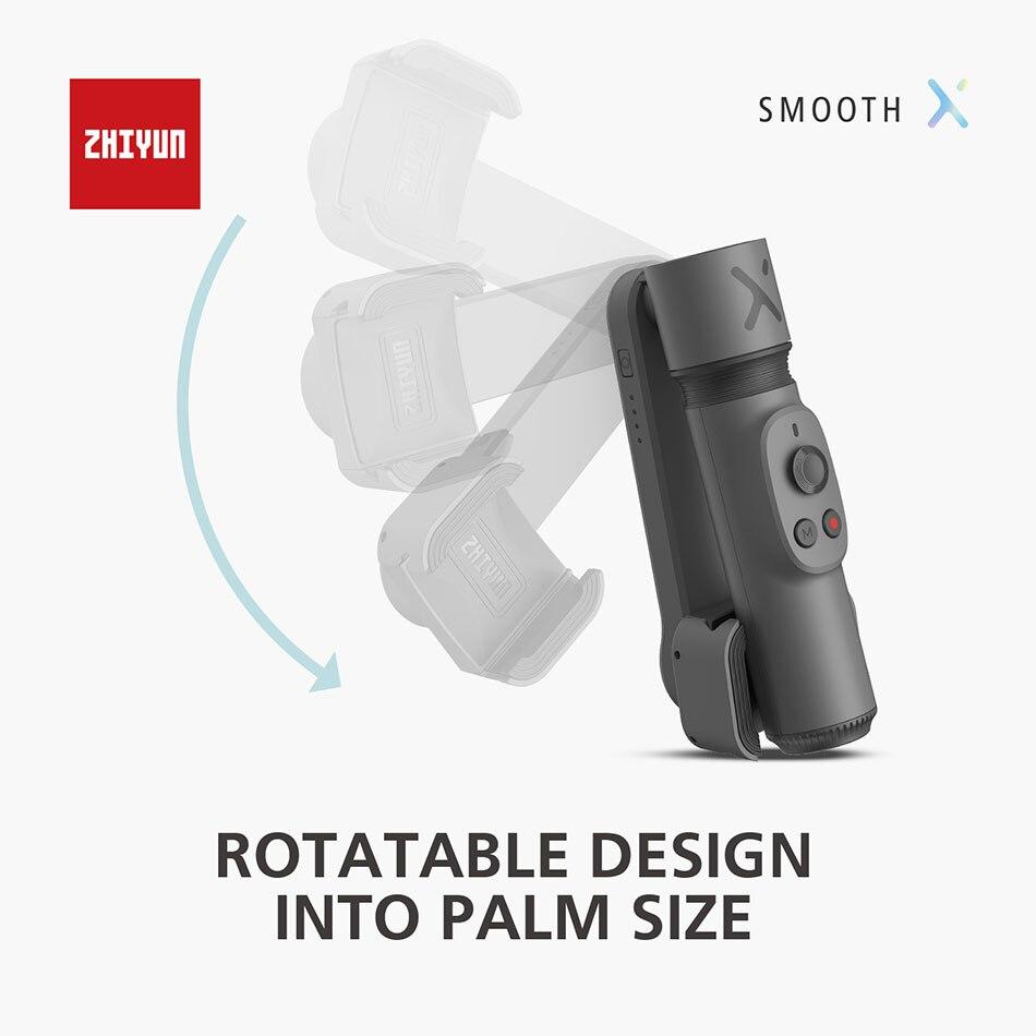 Zhiyun smooth x селфи палка стабилизатор gimbal palo ручной