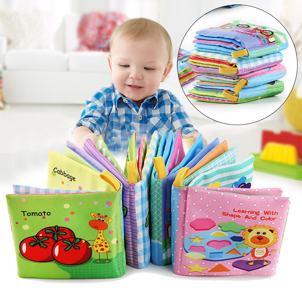 Baby Cloth Book Intelligence Development Educational Learning Tool Kid Toy Gift