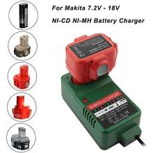 NI CD NI MH chargeur de batterie pour Makita 7.2V 9.6V 12V 14.4V 18V 6010D 6261D 6226DWE 6270D 6270DWE 6271D 6271DWE chargeur US/EU/royaume uni