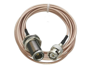 Kabel RG316 BNC wtyk męski na N żeńskie gniazdo grodziowe kabel ze zworką RF koncentryczny 4 cale ~ 10M