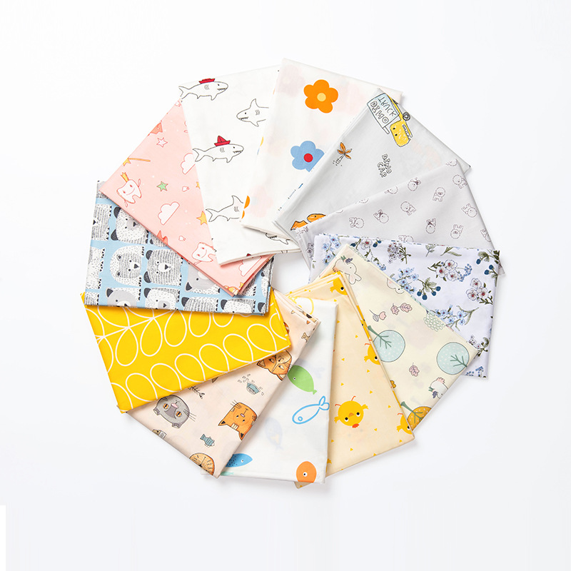 Clothing Cotton Fabric Poplin Cotton DIY For Child Handmade Materials For Making Crafts Cloth Quilt Cover Plain Cotton Fabric
