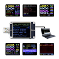 Medidor de tensão corrente, usb, medidor de tensão atual qc4 + pd3.0 2.0 pps, protocolo de carregamento rápido, detector de capacidade de teste, monitor WEB-U2 qway