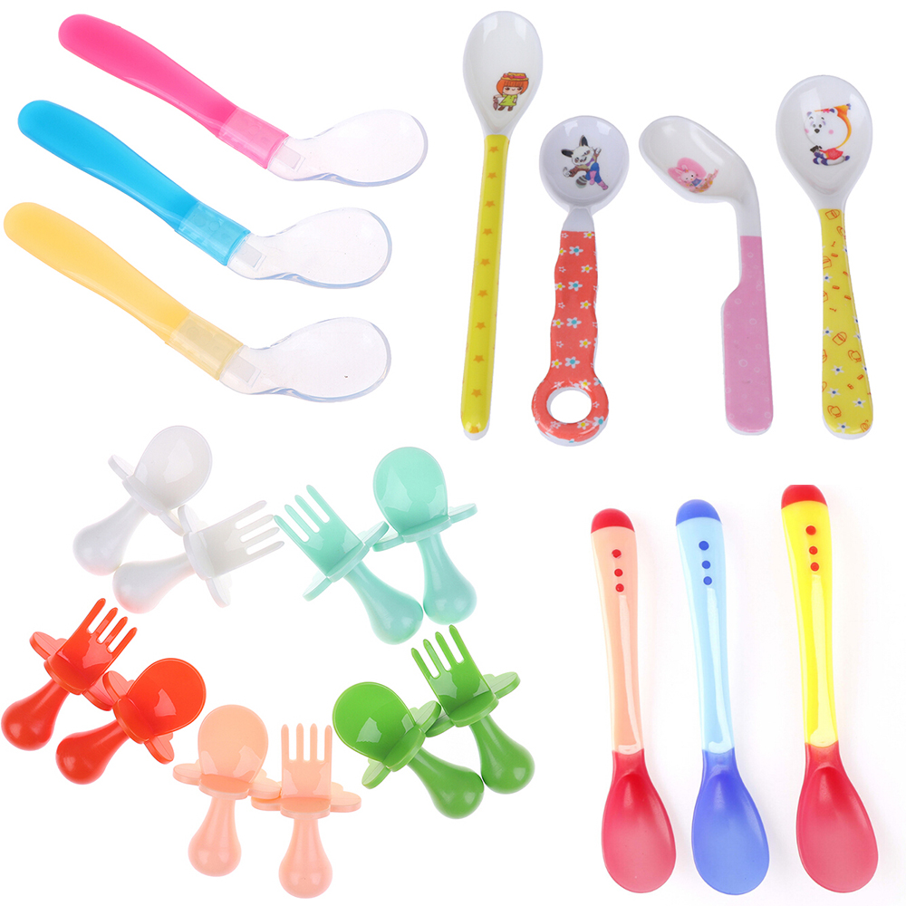 1pc Baby Spoons Feeding Dishes Tableware For Children Flatware Cutlery Colher Spoon Tools-for-patchwork Lot Soup Ladle