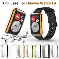 Funda protectora de pantalla para reloj Huawei, funda protectora de TPU suave y ultrafina para reloj inteligente Huawei Fit TIA-B09