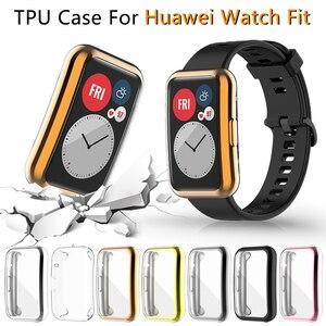 Image 1 - Screen Protector สำหรับ Huawei นาฬิกา Fit TIA B09 Ultra Slim Soft TPU Smartwatch สำหรับ Huawei กันชน Shell