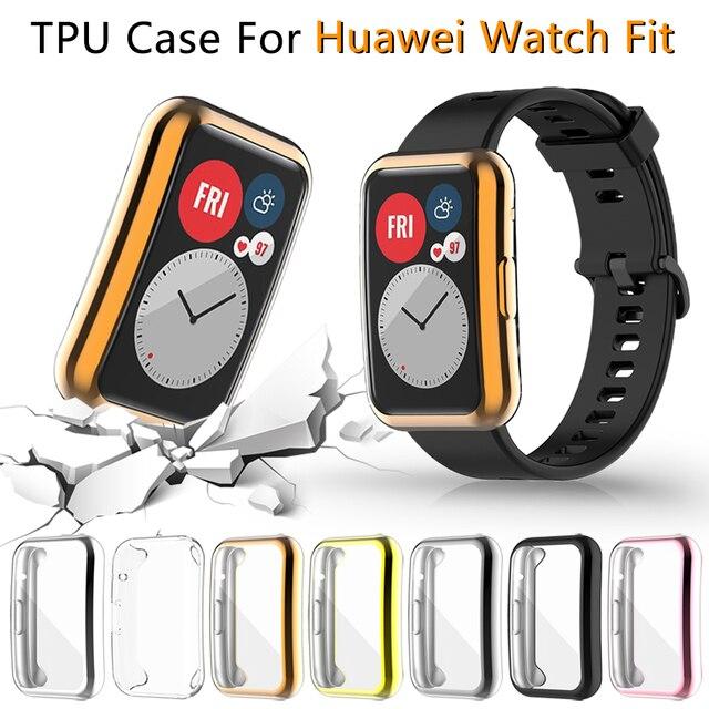 Screen Protector สำหรับ Huawei นาฬิกา Fit TIA B09 Ultra Slim Soft TPU Smartwatch สำหรับ Huawei กันชน Shell