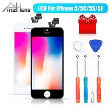 PINZHENG AAAA 원래 LCD 아이폰 5 5S 5 c SE 디스플레이 터치 스크린 디지타이저 교체 아이폰 5 5S 5 c SE 교체 화면
