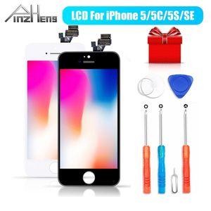Image 1 - PINZHENG AAAA orijinal LCD iPhone 5 5S 5C SE ekran dokunmatik ekran Digitizer değiştirin iPhone 5 5S 5C SE yedek ekran