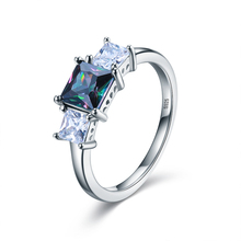 цена Real 100% 925 Sterling Silver Fairytale Sparkling Ring, Clear CZ Finger Ring for Women Wedding Engagement Jewelry Gift 2019 онлайн в 2017 году