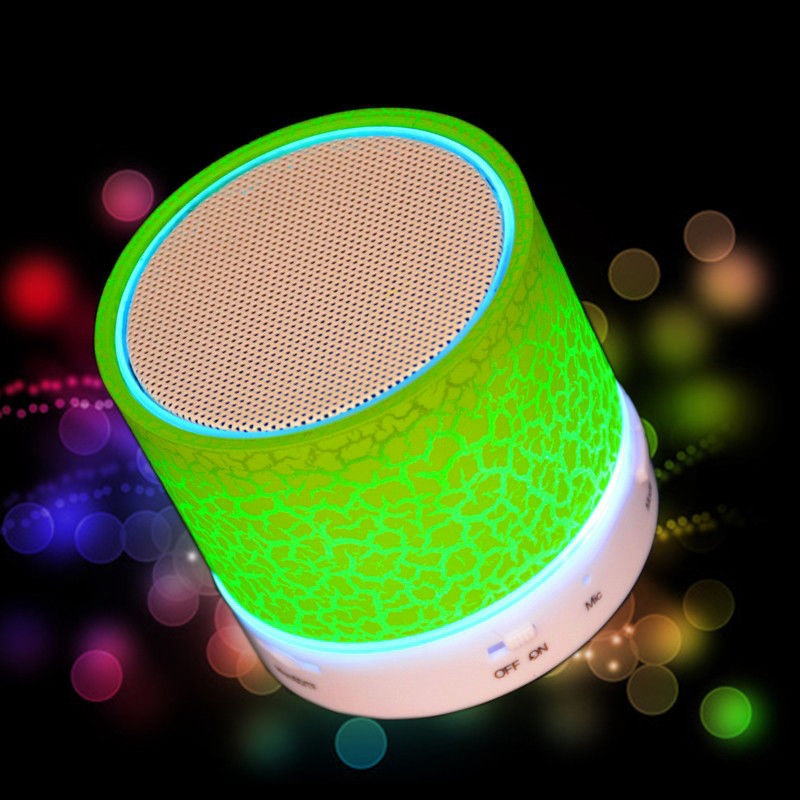 Music Flash Light LED Bluetooth Speaker  Sound Amplifier Box Loudspeakers Subwoofer USB TF/SD WirelessMusic Amplifier For Iphone