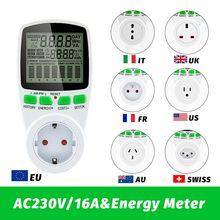 Smart AC Power Meter Wattmeter Abrechnung Sockel Energie Meter KWh Spannung Strom Frequenz Strom Monitor EU/US/UK/AU/FR Stecker