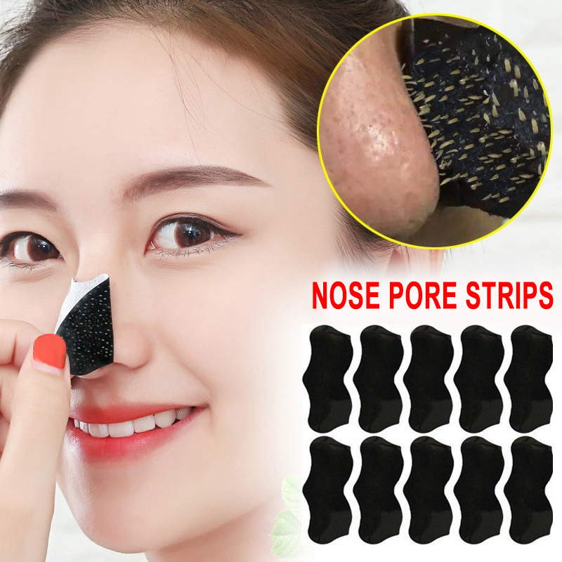 Bamboo Charcoal 50pc Blackhead Remover Mask Black Dots Spots Acne Treatment Mask Nose Sticker Cleaner Nose Pore Deep Clean Strip