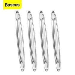 Baseus 4Pcs Car Door Protector Guard Airbag Buffer Strip Scratch Protector Car Rubber Bumper Stickers Auto Door Edge Protection