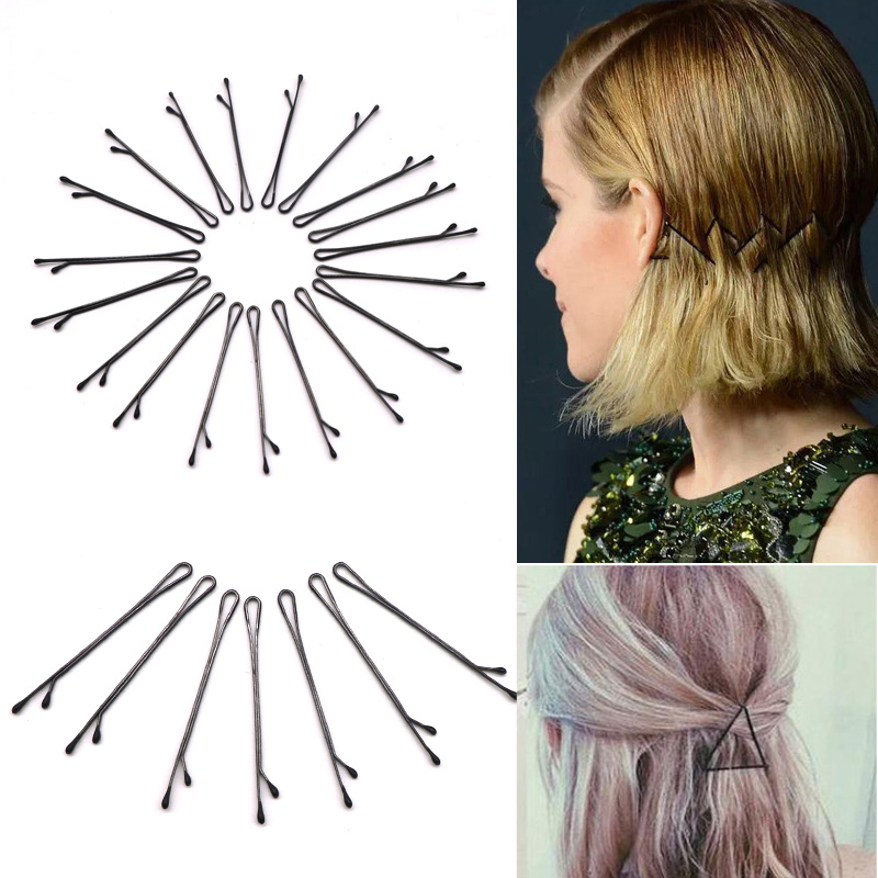 1set 60PC Hair Clips 's Barrette Ladies Barber Clip Pins Invisible Grips Professional Hair Clip Hairpin Two Types#