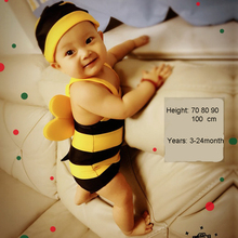Baby boy girl Swimwear 70-100cm Bee Cartoon Swimsuit swimsuit Bathing Suits For Girls Toddler Infant Piece kids 1piece swim