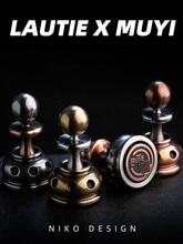 LAUTIE وحدة دوران بالأصابع الشطرنج CHEZZ EDC الضغط لعبة الاصبع الدوارة