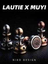 Lautie fingertip giroscópio xadrez chezz edc descompressão brinquedo de dedo rotativo