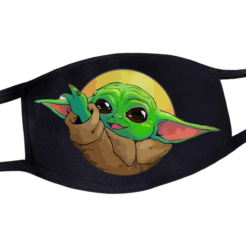 Unisex Anti Dust Mask Movie Star Wars Kawaii Mandalorian Baby Yoda Fashion Funny Mouth Mask Washable Reusable Masker Maseczki