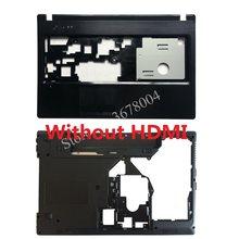 Nova capa para lenovo g570 g575 lcd moldura capa/portátil inferior base caso sem