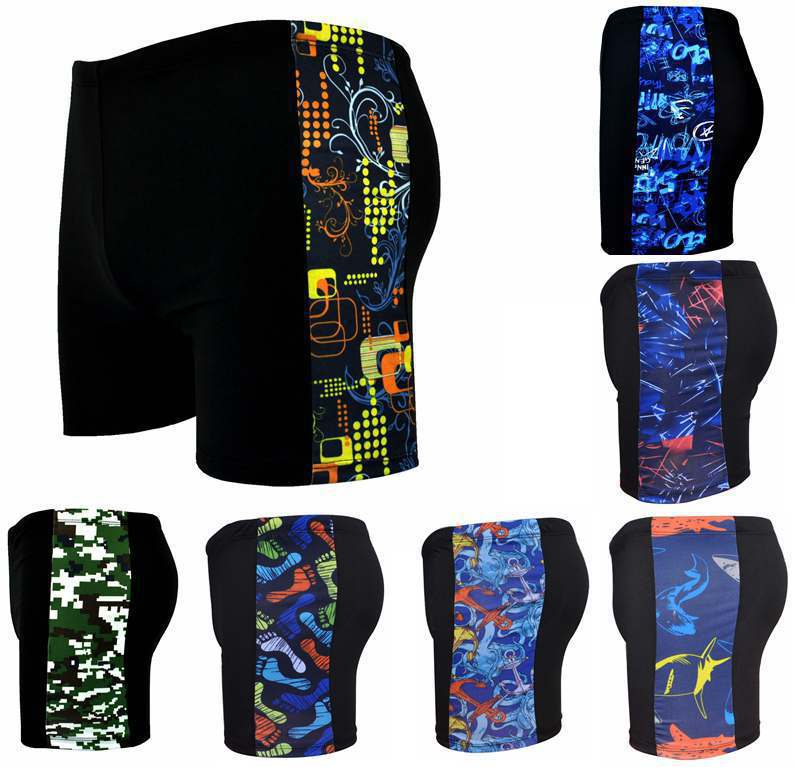 Thick Men AussieBum Amount-Hot Springs Adult Mixed Colors Ultra-stretch Plus-sized Swimming Trunks