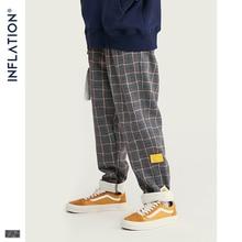 INFLATION бренд ретро Клетчатые Шерстяные мужские брюки Harajuku Свободные прямые повседневные мужские брюки 2020 AW уличный стиль мужские брюки 93362W