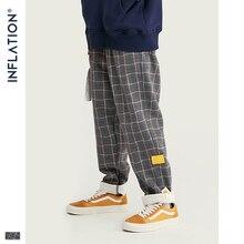 Şişirme marka Retro ekose yün erkek pantolon Harajuku gevşek düz rahat erkek pantolon 2020 AW sokak tarzı erkek pantolon 93362W