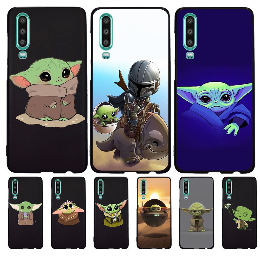 Cartoon Cute Baby Yoda Meme For Huawei P40 P30 Pro P20 P10 P8 Lite 2017 Mate 30 20 10 Lite Pro Phone Case Silicone coque etui image