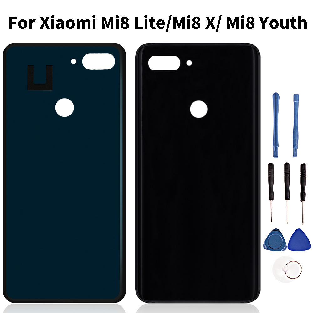 Quality Housing For <font><b>Xiaomi</b></font> <font><b>MI</b></font> <font><b>8</b></font> Lite Back <font><b>Battery</b></font> <font><b>Cover</b></font> Housing Panel Door Repair Part Replacement For <font><b>Mi</b></font> 8X/ <font><b>MI</b></font> <font><b>8</b></font> Youth image