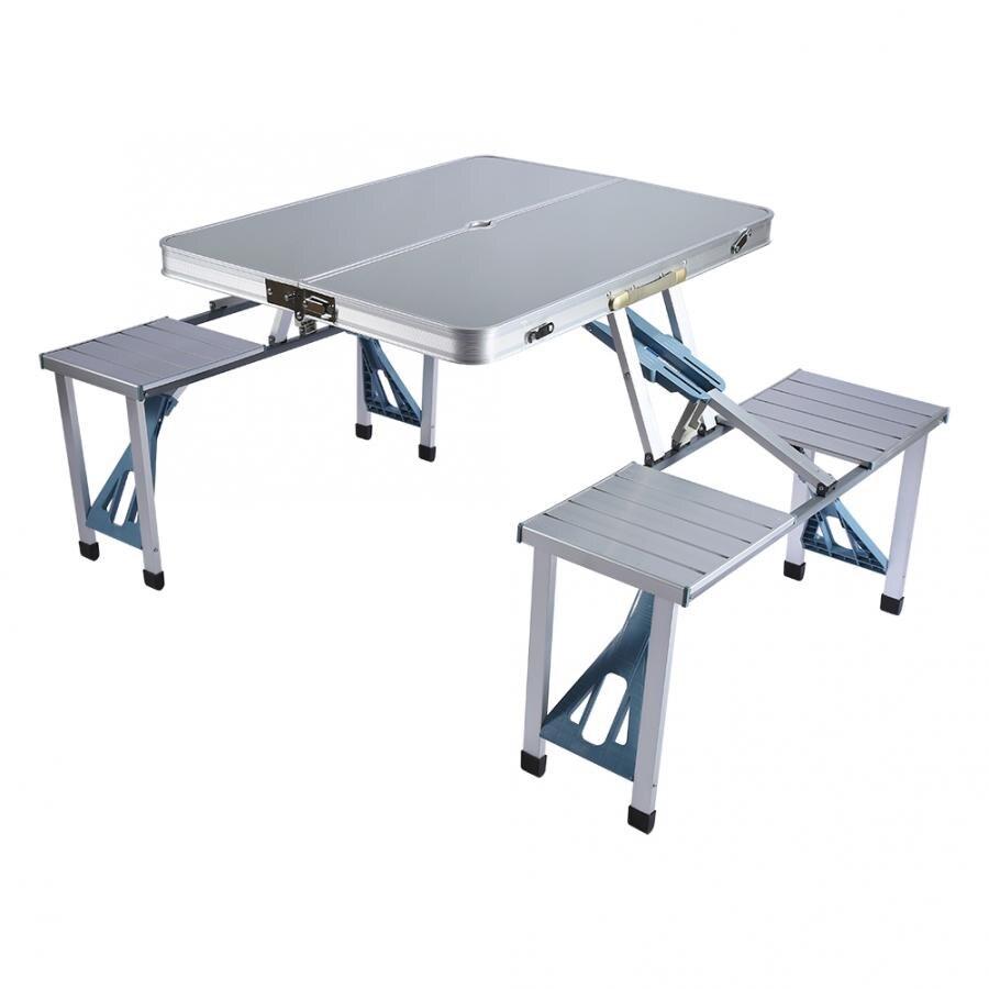 - Outdoor Camping Table Chair Set Aluminium Portable Folding Camping