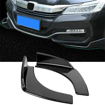 Universal Black Car Front Deflector Spoiler Splitter Diffuser Bumper Canard Lip