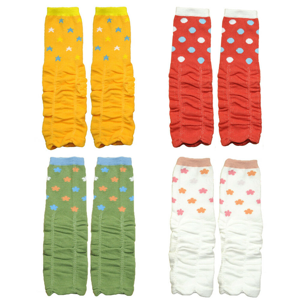 Baby Child Kid Girl Polka Dots Flower Long Socks Tights Arm Leg Warmers WATXW0023